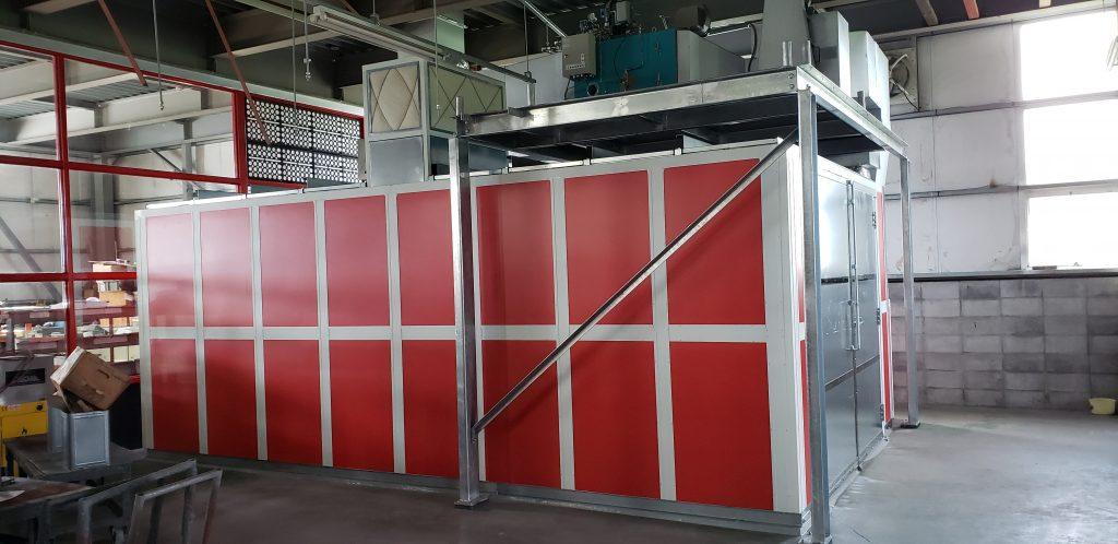 勝又金属工業(株) 焼付乾燥炉・局所排気装置 設置工事