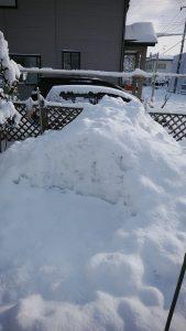 正月休み中の雪遊び。
